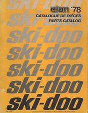1978 Ski-Doo Elan Snowmobile Parts Manual 480 1070 00 (592)