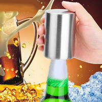 Stainless Steel Bottle Opener Automatic Push Down Beer Soda Cap Wine Open Tools