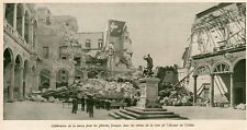 TOLEDO TOLEDE MESSE PELERINS RUINE COUR ALCAZAR ESPANA SPAIN IMAGE 1941 PRINT