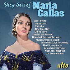 CD VERY BEST MARIA CALLAS CASTA DIVA VISSI D'ARTE QUI LA VOCE MAD SCENE SUICIDIO