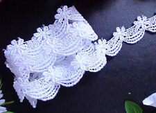 White Venise lace trim 1 inch wide  - selling by the yard