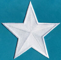 """Avengers Captain America 6"""" White Embroidered Star Iron-on Patch"""