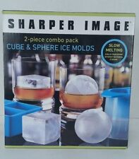 SHARPER IMAGE 2-Piece Combo Pack Cube & Sphere Ice Molds
