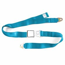 2pt Electric Blue Lap Seat Belt Airplane Buckle - Each custom jdm go kart gasser