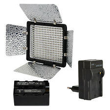 METTLE SET: LED-Videoleuchte VL-300B dimmbares Kopflicht mit Akku 4200 Ladegerät