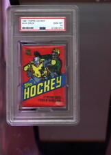 1981-82 Topps Hockey Card Unopened Wax Pack Bazooka Back NHL Graded MINT PSA 10