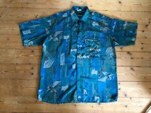 Christian Dior Seidenhemd Silk Shirt M L 16 42 Herren Armani Cavalli Hermes