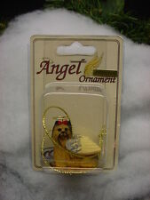 YORKIE puppy DOG ANGEL Ornament Resin Figurine YORKSHIRE TERRIER COLLECTIBLE