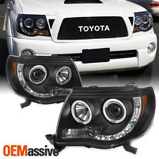 Fits 2005-2011 Toyota Tacoma Black Halo Projector LED Headlights 2006 07 08 2009