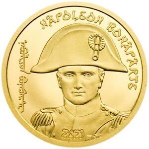 Mongolei 1.000 Togrog 2021 - Napoleon Bonaparte - 200. Todestag - 0,5 gr Gold PP