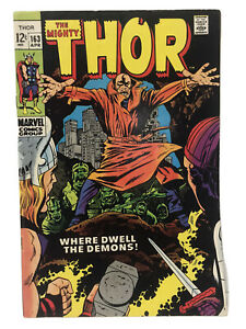 The Mighty Thor Marvel Comic #163 April 1969