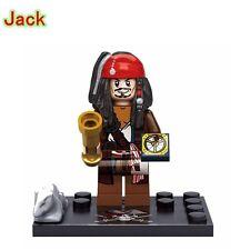 JACK SPARROW PIRATI DEI CARAIBI Custom minifigura lego si adatta