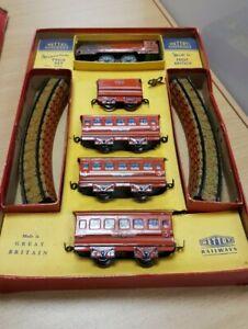 Vintage Mettoy Railways Tinplate Streamline Miniature Train Set 5703