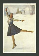 Sonja Henie Figure Skating Vintage 1932 Sanella Sports Card