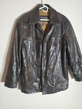 Wilson Vintage Men's Brown Leather 'Julian' Jacket L #Rn69426.