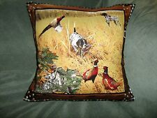 HUNTING DOGS AND PHEASANTS PILLOW COVER