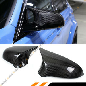 FOR 2015-19 BMW F80 M3 F82 M4 CARBON FIBER DIRECT REPLACEMENT SIDE MIRROR COVERS