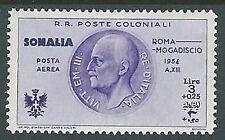 1934 SOMALIA POSTA AEREA ROMA MOGADISCIO 3 LIRE MH * - K154