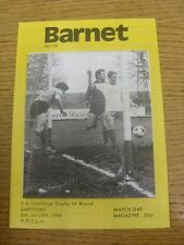 14/01/1984 Barnet v Dartford [FA Trophy] . Any faults are noted in brackets, oth
