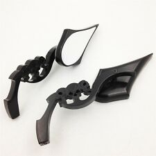 For Kawasaki Ninja All year model 1986-2012 Black Custom Skull Blade Mirrors