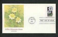 US FDC #2661 Wildflowers 1992 Fleetwood Cachet Montana MT White Mountain Avens