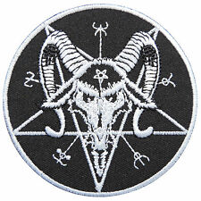 Satan Satanic Pentagram 666 Baphomet Goat Occult Wicca Iron-On Patches #SA024