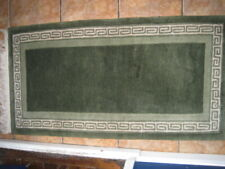 Traditional Runner - oriental / Chinese rug in green and cream 4` x 2`