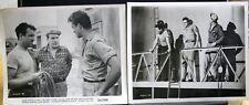 "2 VINTAGE 8""X10"" PHOTOS JOHN ERICSON THE CRUEL TOWER MARI BLANCHARD SKYSCRAPER B"