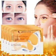 2Pcs 24KGold Crystal Collagen Eye Mask Dark Circles Anti-Aging Wrinkle Skin Care