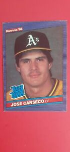 1986 DONRUSS JOSE CANSECO #39 ROOKIE RC EXTREMELY HOT CARD INVEST