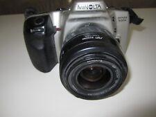 Minolta Dynax 500si Autofocus SLR Film Camera with 2 Lens and a flash