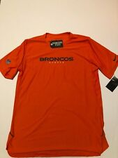 54f930602 Nike 2018 NFL Denver Broncos Sideline Player Performance Dri-fit T-shirt Med