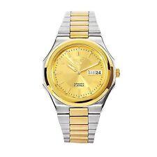 Seiko Men's Automatic See Through Gold Steel 2 Tone 21 Jewels Watch SNKK50K1