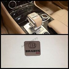 Mercedes Brabus style G800 Stainless  gearshift emblem decal w463 w219 w218 w212