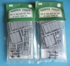 2 x Bagged Cooper Craft Plastic OO Gauge 4mm Kit 1003 - GWR V5 Wood Mink Van