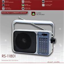 Radio Portatil 4 Bandas - AM FM SW1 SW2 - Funcionamiento Corriente Pilas Batería