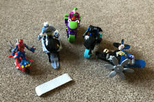 Imaginext Figure Toy Bundle  Batman, Joker, two face, Spider-Man + 5 vehicles
