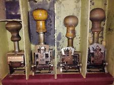 5 Stück alte Pagniermaschine Sammlung Pagniermaschinen Auflösung Druckerei