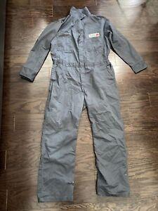 Vintage Unitog Farm Mechanic One Piece Suit Mens Sz Large Blue Hipster AL Cenex