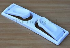 White Plastic Kitchen Paper Towel Roll Holder Rail Dispenser Wall Mounted