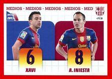 FC BARCELONA 2012-2013 Panini - Figurina-Sticker n. 21 - XAVI-INIESTA -New