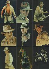 "2008 Topps Indiana Jones Masterpieces Complete 9 Card ""FOIL ART"" Insert Set"