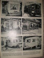 Photo article the International Caravan Exhibition London 1962 ref Z4
