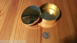 Ted Cash Brass Snuff  Box, Patch Box, Tinder Box  Made in USA