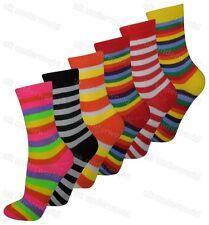 Ladies Womens Socks 3 Pairs Funky Coloured Design Designer Adults 4-6.5