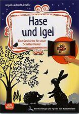 Conejo y erizos. cuentos de hadas trozo para sombra texto de teatro, personajes bonus código de descarga