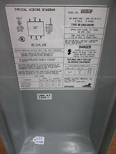 MIDWEST U0353F DISCONNECT PULLOUT SWITCH 30 AMPS 240 VOLTS AC 3 POLE 3 PHASE