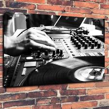 "DJ Decks, Mixing Desk, Rave Printed Box Canvas Picture A1.30""x20""30mm Deep"