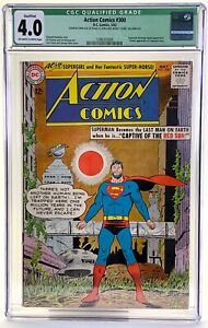 DC 1963 Action Comics #300 CGC qualified grade 4.0 missing coupon