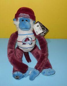 "NHL 18"" Colorado Avalanche Rally Monkey Purple & Blue Hanging Stuffed Plush"